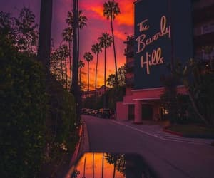 Beverly Hills, home, and sunset image