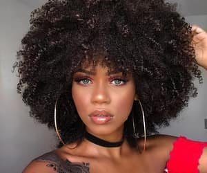 Afro, green eyes, and brazilian image