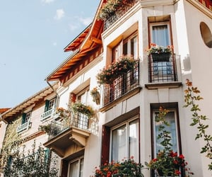 flowers, architecture, and house image