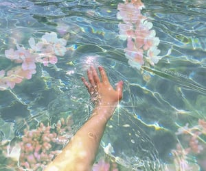 aesthetic, water, and blue image