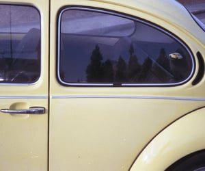 car, yellow, and aesthetic image