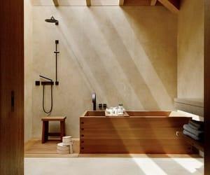 bathroom, house, and brown image