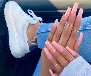 nails, shoes, and pink image