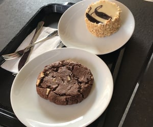 cake, chocolate, and cookie image