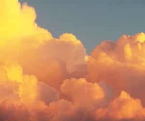 clouds, aesthetic, and orange image