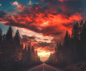 sky, sunset, and beautiful image