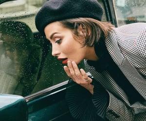 beret, car, and chic image