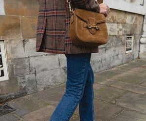 bag, black boots, and blazer image