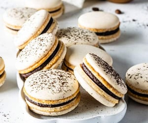 chocolate, food, and ‎macarons image