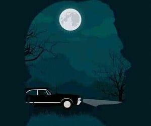 sam winchester, 67 chevy impala, and supernatural image