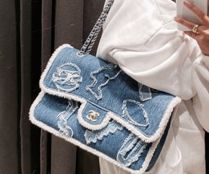 bag, chanel, and denim image