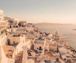 city, santorini, and summer image