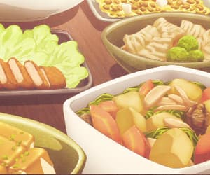 anime, delicious, and gifs image