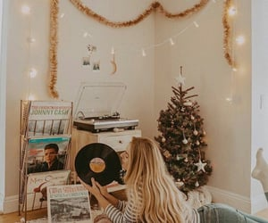 christmas, music, and records image