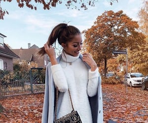 girl, fashion, and autumn image