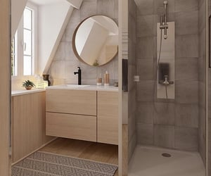 bathroom, decor, and design image