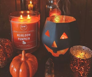 autumn, candles, and decorations image