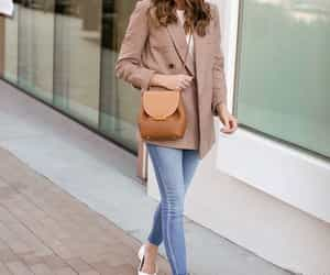 blazer, jeans, and outfit image