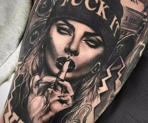 gangster, tattoo, and gangster tattoo image