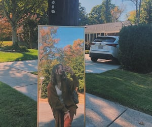 aesthetic, selfie, and autumn image