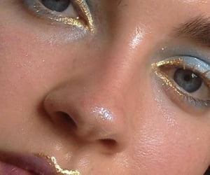 makeup, gold, and aesthetic image