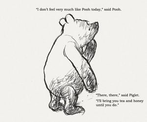 b&w, winnie the pooh, and black and white image