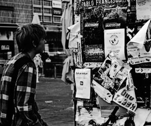 black and white, photography, and boy image