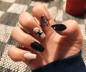 acrylics, nails, and cobweb image