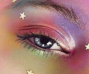 stars, eyes, and makeup image