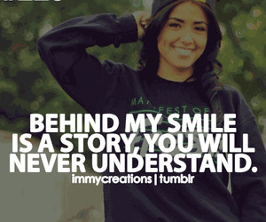 smile, quote, and story image