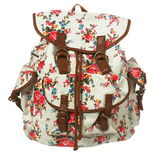 flowers, backpack, and floral image