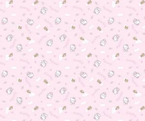 background, header, and hello kitty image