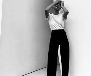 black and white, chic, and fashion image