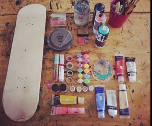 art, skate, and paint image