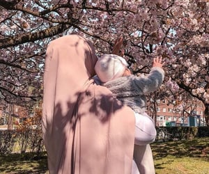 baby, family, and khimar image