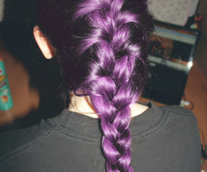 braids, violet, and hair image