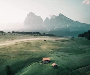 grass, green, and mountain image