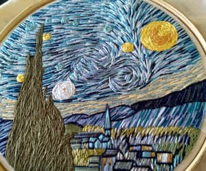 art, artist, and embroidery image