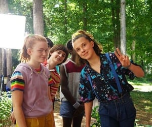 millie bobby brown, stranger things, and sadie sink image