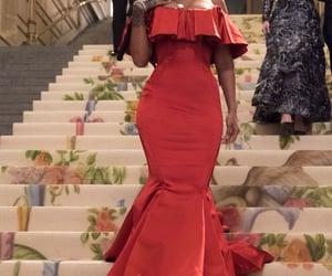 rihanna, red, and dress image