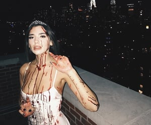 dua lipa and Halloween image