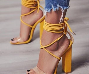 shoes, yellow, and fashion image