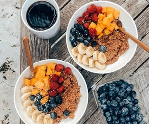 bowls, breakfast, and coffee image