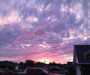 sky, purple, and sunset image