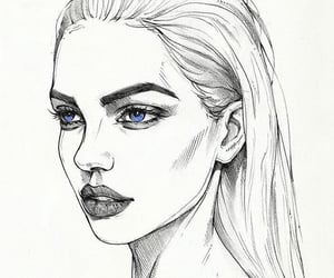 drawing, girl, and pretty image