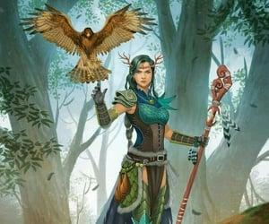 bird, elf, and female image