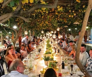 dinner, capri, and italy image