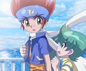 anime, blue, and kenta image