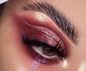 cosmetics, eyelashes, and fashion image