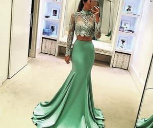vestido de longo and mint green evening dress image